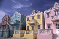 Caribbean architecture, Willemstad, Curacao Fine Art Print