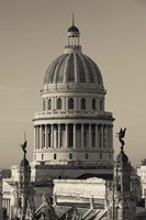 Cuba, Havana, Capitol Building, dawn Fine Art Print