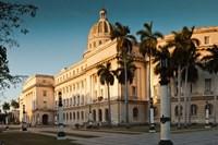 Cuba, Havana, Capitol Building, sunset Fine Art Print