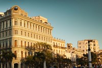 Cuba, Havana, Havana Vieja, Hotel Saratoga, sunset Fine Art Print