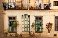 Cuba, Havana, Havana Vieja, Old Havana Building Fine Art Print