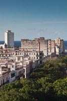 Cuba, Havana, Paseo de Marti, late afternoon Fine Art Print