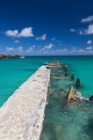 Cuba, Havana, Playas del Este, Playa Jibacoa, pier Fine Art Print