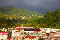 Stormy sky, Roseau, Dominica, West Indies Fine Art Print