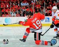 Jonathan Toews On Hockey Ice Fine Art Print
