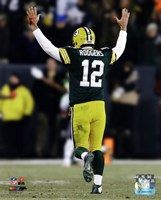 Aaron Rodgers 2014 Action Fine Art Print