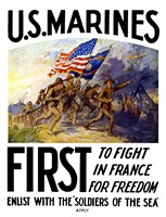 US Marines First Fine Art Print