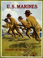 U.S. Marines - Soldiers of the Sea Fine Art Print