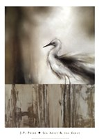 Sea Mist & the Egret Fine Art Print