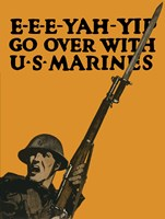Go Over with U.S. Marines Fine Art Print