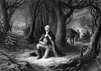General George Washington Praying at Valley Forge Fine Art Print