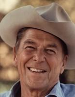 Ronald Reagan in Cowboy Hat Fine Art Print
