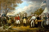 Surrender of British General John Burgoyne Fine Art Print