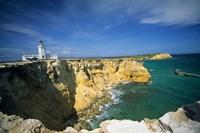 Faro De Cabo Rojo Lighthouse, The Pasaje De La Mona, Puerto Rico Fine Art Print