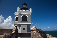 Puerto Rico, San Juan, El Morro Fortress, lighthouse Fine Art Print