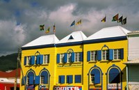 Bright Colorful Building, St Kitts, Caribbean Fine Art Print