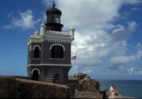 Tower at El Morro Fortress, Old San Juan, Puerto Rico Fine Art Print