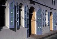 Shops, Charlotte Amalie, St Thomas, Caribbean Fine Art Print