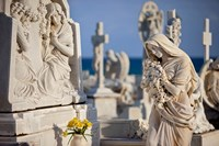 Memorial Angel, Cemetery, San Juan, Puerto Rico Fine Art Print