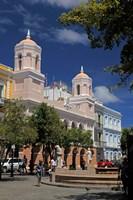 Puerto Rico, San Juan Plaza in Old San Juan Fine Art Print