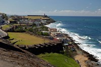 Puerto Rico, San Juan View from San Cristobal Fort Fine Art Print