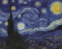 The Starry Night, c.1889 Fine Art Print