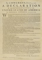 United States Declaration of Independence Fine Art Print