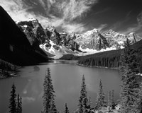 Wenkchemna Peaks reflected in Moraine lake, Banff National Park, Alberta, Canada Fine Art Print