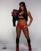 Nikki Bella with the Divas Championship Belt 2014 Posed Fine Art Print