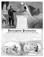 President Abraham Lincoln and the Emancipation Proclamation Fine Art Print