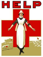 Help - Red Cross Nurse Fine Art Print