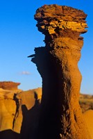 Sandstone rock, Dinosaur Provincial Park, Alberta Fine Art Print