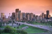 Skyline of Calgary, Alberta, Canada Fine Art Print