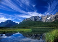 Cirrus Clouds Over Waterfowl Lake, Banff National Park, Alberta, Canada Fine Art Print