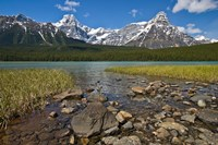 Alberta, Rocky Mountains, Banff NP, lake fed by snowmelt Fine Art Print