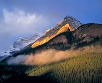 Alberta, Banff NP, Sunrise of the Canadian Rockies Fine Art Print