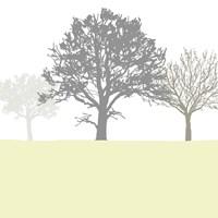Treeline Yellow Fine Art Print