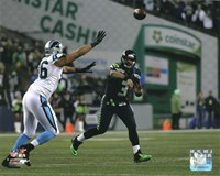 Russell Wilson 2014 Playoff Action Fine Art Print