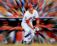 Mike Trout Motion Blast Framed Print