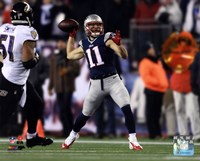 Julian Edelman Touchdown Pass 2014 Playoff Action Fine Art Print