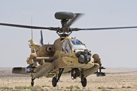 An AH-64D Saraf attack helicopter of the Israeli Air Force Fine Art Print
