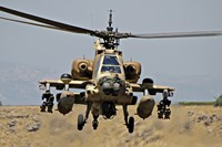 AH-64A Peten attack helicopter Fine Art Print