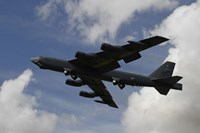 A B-52 Stratofortress heavy bomber of the US Air Force Fine Art Print