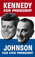 1960 Democratic Nominees, Kennedy & Johnson Fine Art Print