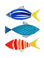 Summer Fish Trio Fine Art Print