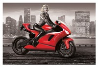 Marilyn's Motorcycle Fine Art Print