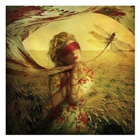 Lady with Dragonfly Fine Art Print
