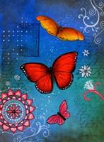 Fluorescent Pink Butterfly Fine Art Print