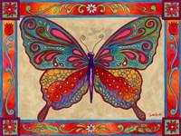 Mosaic Butterfly Fine Art Print