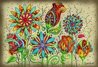 Mosaic Flowers-Festival Fine Art Print